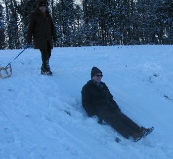 sledging in Zurich