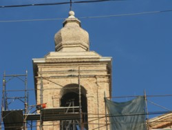 restored church tower