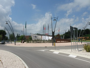 roundabout in Corinaldo