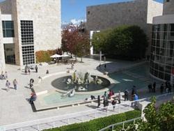 getty centre courtyard